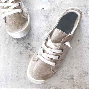 Oatmeal Comfort Insole Slip On Sneakers